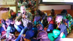 Brother Darren and the Watoto kids