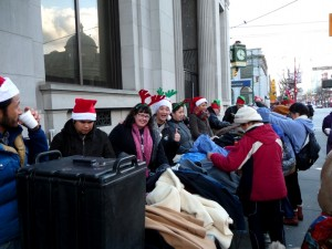 Christmas in the downtown eastside